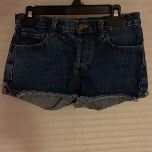American Apparel mid-waist shorts